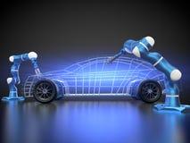 Samochodowa produkcja jest w toku royalty ilustracja
