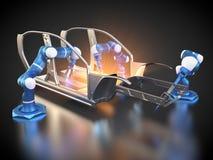 Samochodowa produkcja jest w toku ilustracji