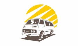 Samochodowa retro klasyczna logo drużyna ilustracja wektor