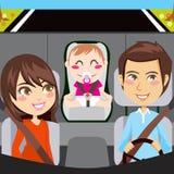 samochodowa rodzina royalty ilustracja