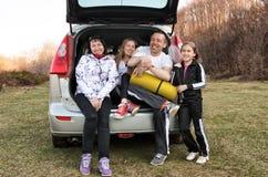 samochodowa rodzinna wycieczka Zdjęcie Stock