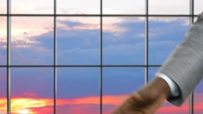 Samochodowa sprzedaż przeciw wieczór niebu zdjęcie wideo