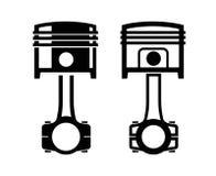 Samochodowa tłokowa ikona Fotografia Stock