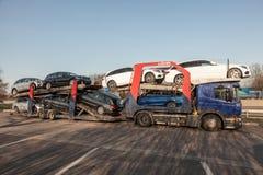 Samochodowa transporter ciężarówka Zdjęcie Royalty Free