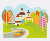 Samochodowa turystyka Obraz Royalty Free