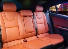 Samochodowa wewnętrzna pomarańczowa skóra obrazy royalty free