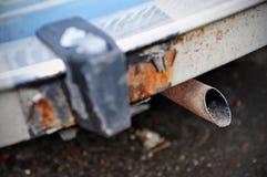 Samochodowa wydmuchowa drymba Obrazy Stock