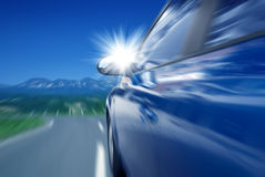 samochodowa wysoka prędkość Zdjęcia Royalty Free
