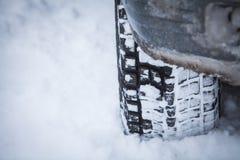 Samochodowa zimy opona Zdjęcie Royalty Free