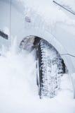 Samochodowa zimy opona Obrazy Stock
