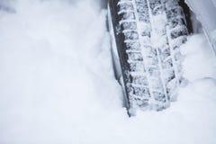 Samochodowa zimy opona Fotografia Royalty Free