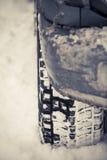 Samochodowa zimy opona Obraz Royalty Free
