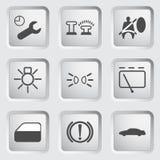 Samochodowe desek rozdzielczych ikony 3 ilustracja wektor