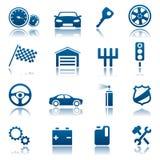 samochodowe ikony Zdjęcia Royalty Free