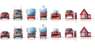 samochodowe ikony Fotografia Stock