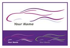 samochodowe ikony menchii purpury Zdjęcie Royalty Free