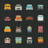 Samochodowe ikony, transport Obrazy Royalty Free