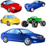 samochodowe ikony ustawiają Zdjęcia Royalty Free