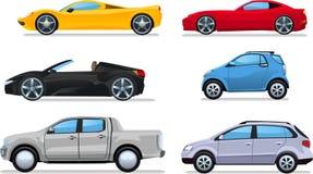 Samochodowe kreskówek ilustracje ilustracja wektor