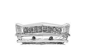 Samochodowe rocznik serie z antyk bazą, sztandar ilustracja wektor