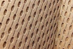 Samochodowe tapicerowanie tkanin deseniowe szarość oba wizerunki Fotografia Stock
