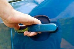 samochodowego drzwi ręki otwarcie Obraz Stock
