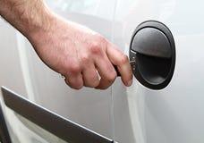 samochodowego drzwi zatrzaskiwanie obrazy stock