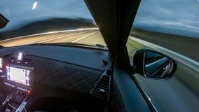 Samochodowego jeżdżenia hyperlapse wśrodku widoku -, prawa strona zbiory