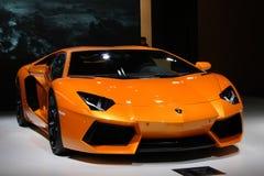 samochodowego lamborghini luksusowy biel Obraz Stock
