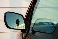 samochodowego lustra strona Obraz Royalty Free