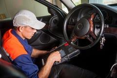 Samochodowego mechanika diagnoza sterowanie Zdjęcia Royalty Free