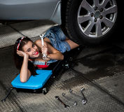 Samochodowego mechanika kobieta Obraz Stock