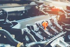 Samochodowego mechanika samochodu remontowa usługa obrazy royalty free