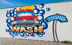 Samochodowego obmycia graffiti Obrazy Stock