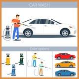 Samochodowego obmycia illustyration Fotografia Stock