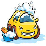 Samochodowego obmycia kreskówka Ilustracji