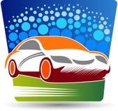 Samochodowego obmycia logo ilustracji