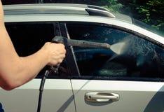 Samochodowego obmycia zakończenie up obrazy royalty free