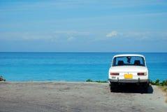 samochodowego oceanu stary sowieci obraz stock