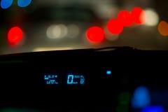 Samochodowego ruchu drogowego dżemów nocy światła Zdjęcia Royalty Free