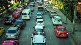 Samochodowego ruchu drogowego dżem na autostradzie zbiory