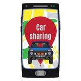 Samochodowego udzielenia usługi pojęcia wektorowa płaska ilustracja ilustracji