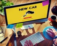 Samochodowego wynajem Używać samochodu transportu pojazdu pojęcie Obraz Stock