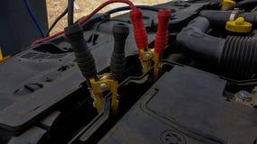 Samochodowej baterii sznurów ładuje tło Obraz Royalty Free