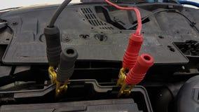 Samochodowej baterii sznurów ładuje tło Obrazy Stock