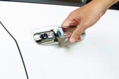 samochodowej dekoraci drzwiowy wnętrze otwarty Obraz Stock