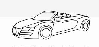 Samochodowej ikony kreskowej sztuki wektorowy projekt ilustracja wektor