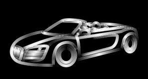 Samochodowej ikony kreskowej sztuki wektorowy projekt royalty ilustracja