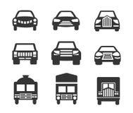 Samochodowej ikony ustalona część dwa ilustracja wektor