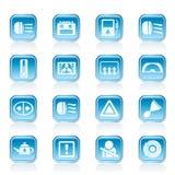 samochodowej konsoli deski rozdzielczej elektroniczna nawigacja Fotografia Stock
